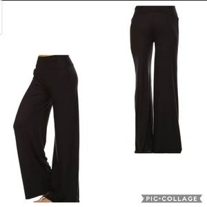 Pants - NEW Sm - XL Black Wide Leg Palazzo Pants